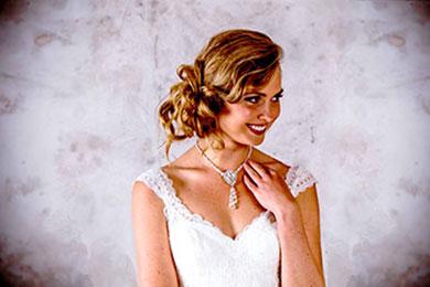 Lady in wedding dress